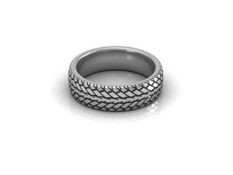 items similar to car tire tread wedding band ring sterling