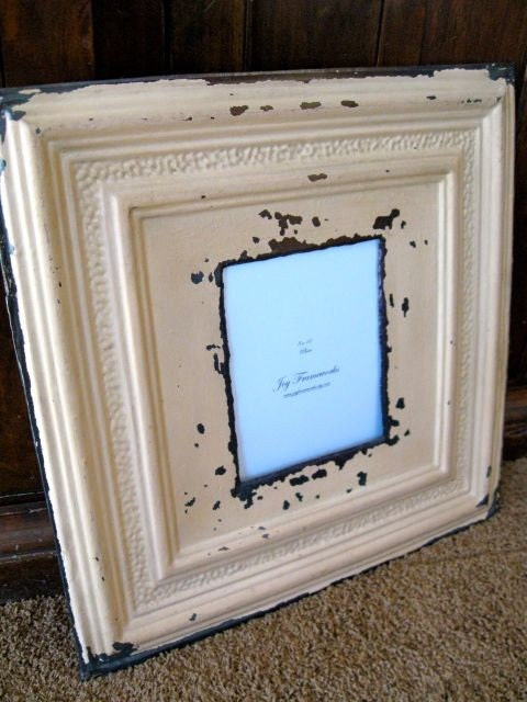 HUGE Antique Ceiling Tin Tile 8x10 Picture Frame LARGE 24x24 2ft // Ready to Ship //