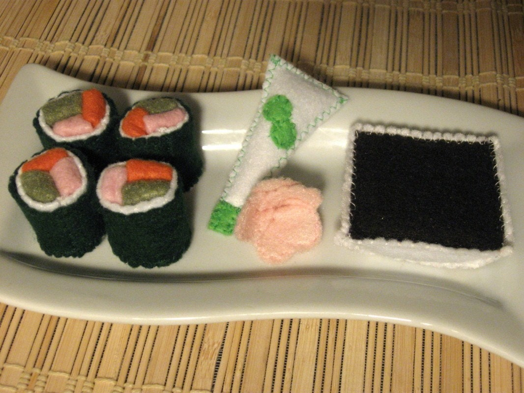 Deluxe Sushi Roll Set - Felt Play Food
