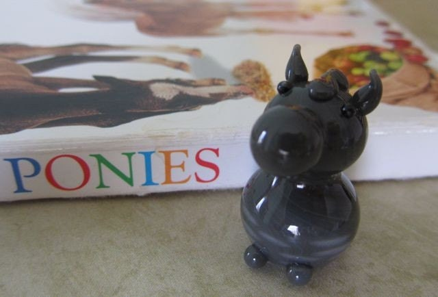 Tiny Glass Appaloosa Pony