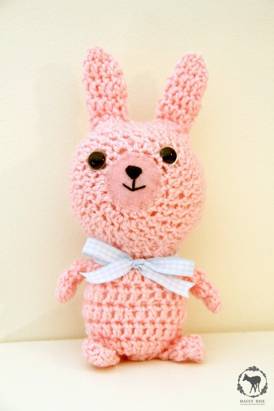 Rose the Pink Bunny (Crochet Soft Toy)