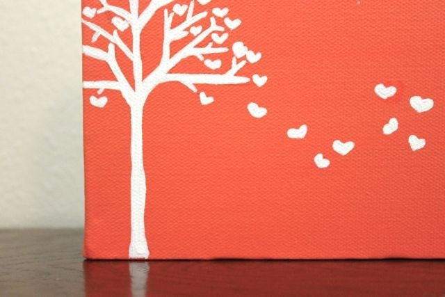 "Sweetheart Tree---Original Acrylic Painting on 6x6 ""Cutie"" Canvas"