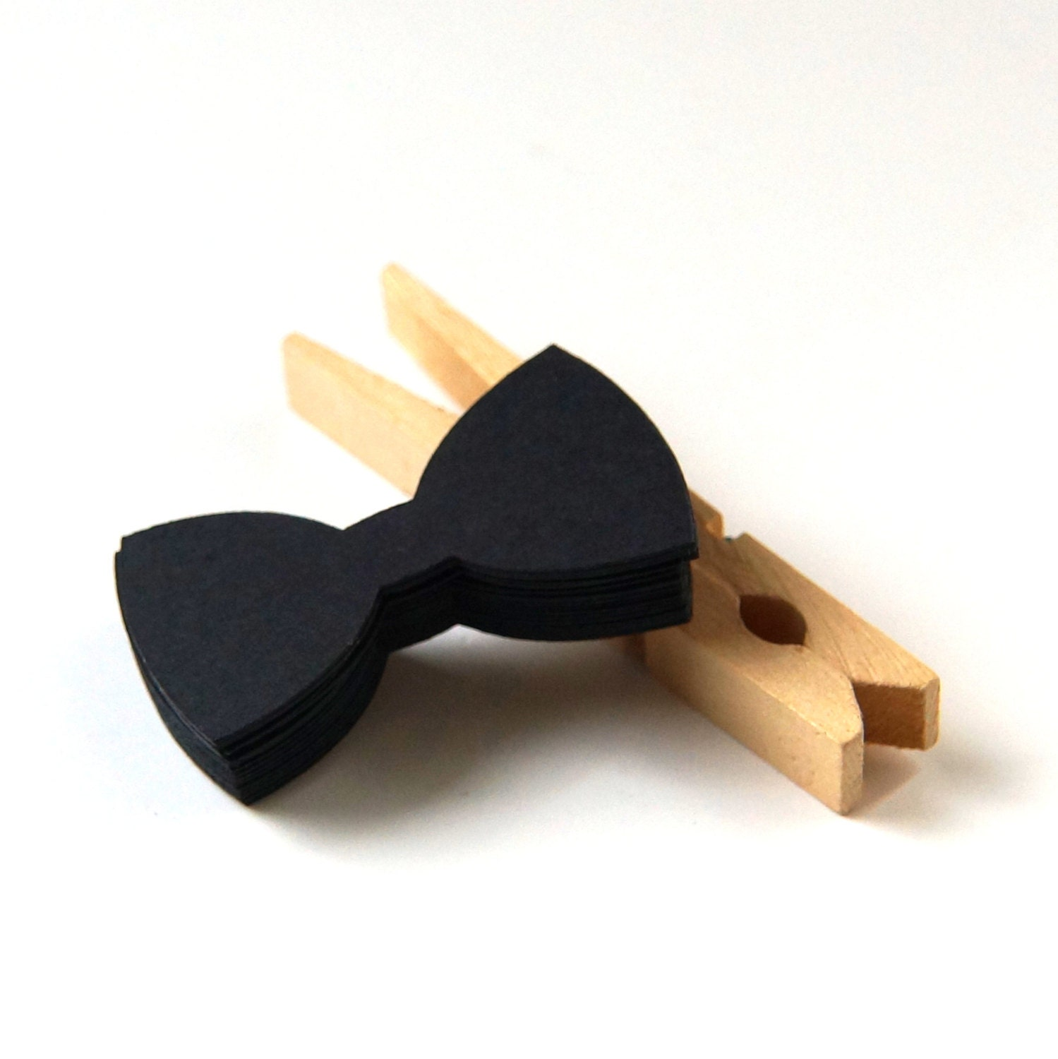 Il Small Bow Tie Cut Tags In Black For Little Man Or