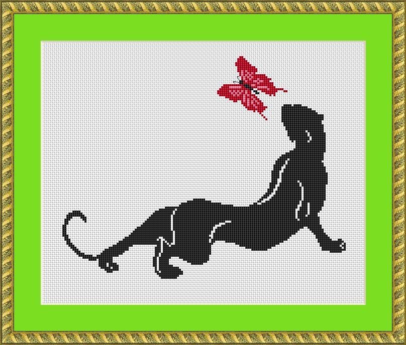 Вышивка и схемы пантера