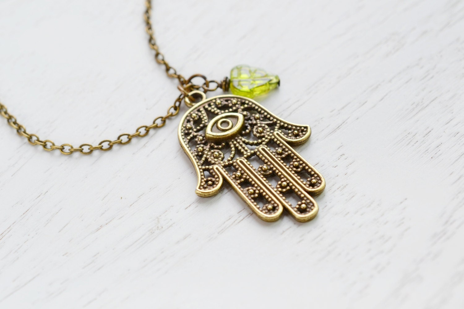 Hamsa Necklace,Hand of Fatima,Hamsa Charm Necklace,Amulet Pendant,Protection from Hamsa Om...