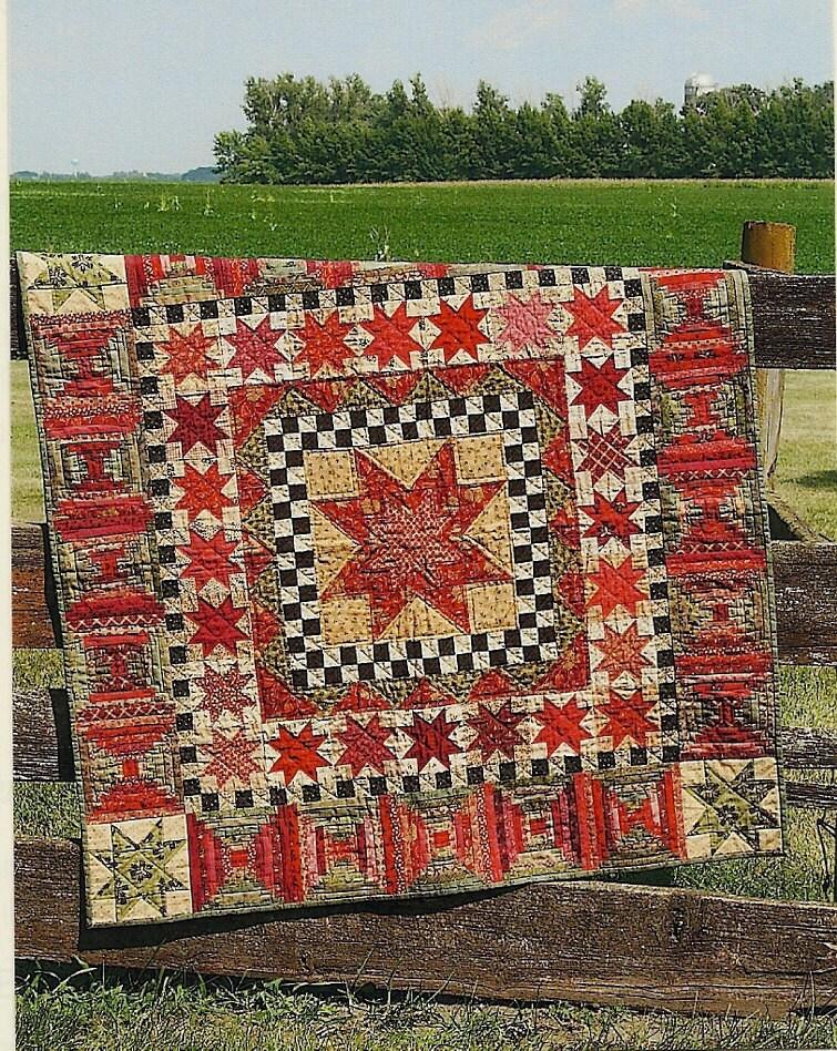 Primitive Folk Art Quilt Pattern: 30 STARS for by PrimFolkArtShop