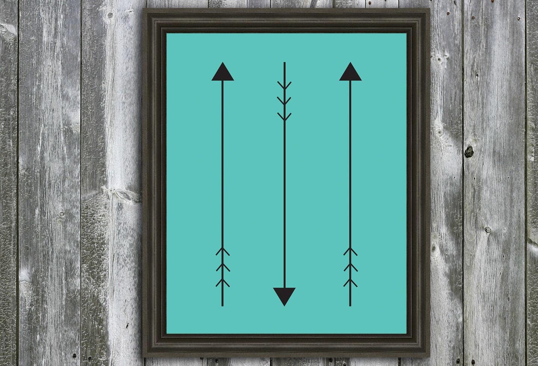8X10 Arrows -  Wall Art - Customizable Poster