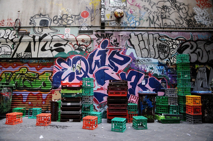 Urban Photography, Street Art, Street Photography, Graffiti, Melbourne, Australia Art, 5 x 7 Fine Art Photography, For Him - Colourscape
