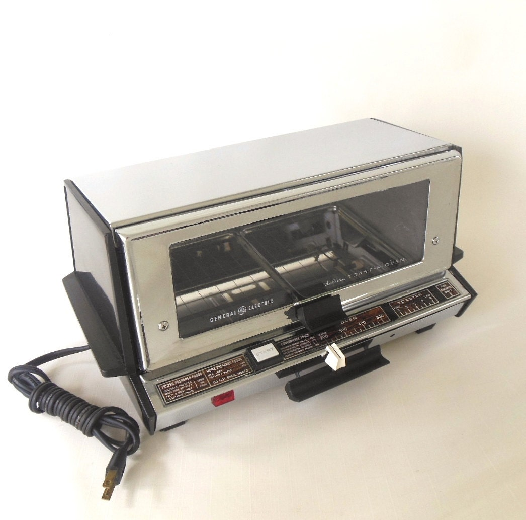 Countertop Oven Made In Usa : Toaster Oven Chrome GE General Electric A4T93B Vintage Made in USA