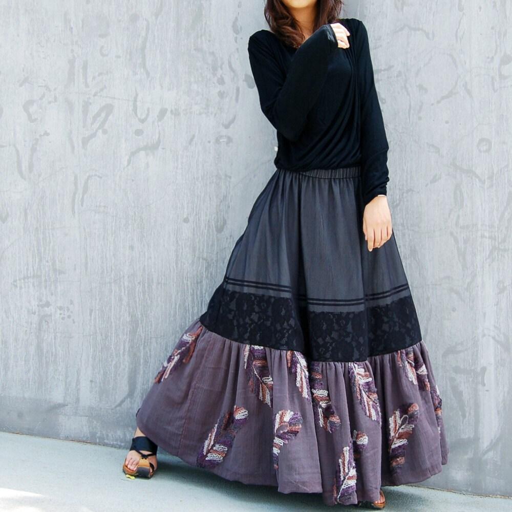فریدا -- دوگانه پارچه دامن پیراهن زنانه دامن بلند (Q1032)