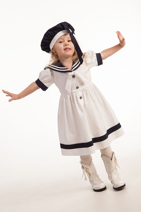 Girl Sailor Dress And Hat Baby Sailor Outfit Girl First By