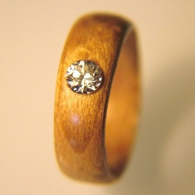 Diamond Maple Wood Ring