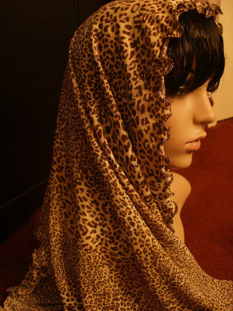 Long Sexy Leopard Print Neck Scarf