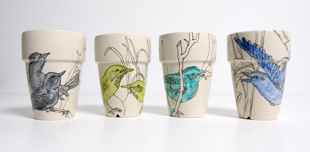 Birds cups