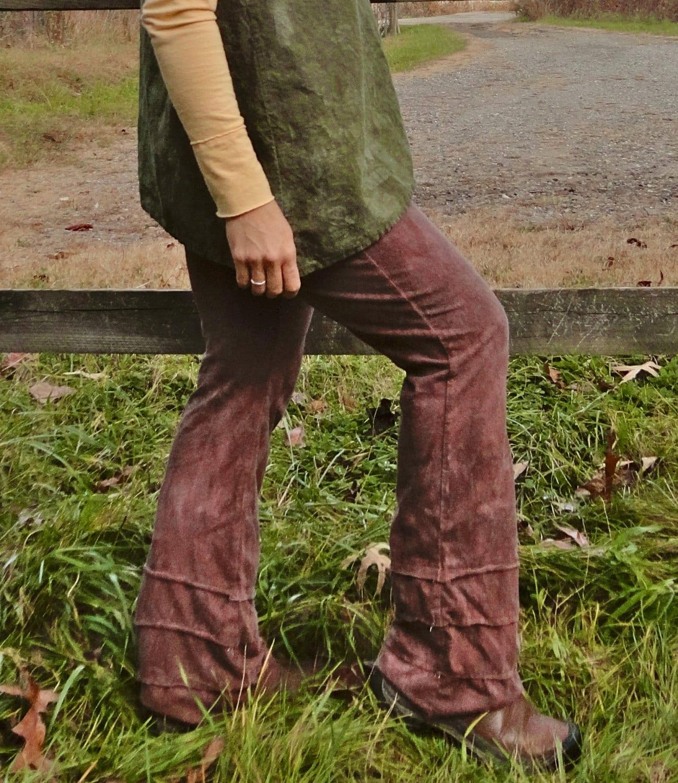 Items Similar To Women's Boot Cut Yoga Pants Hemp And