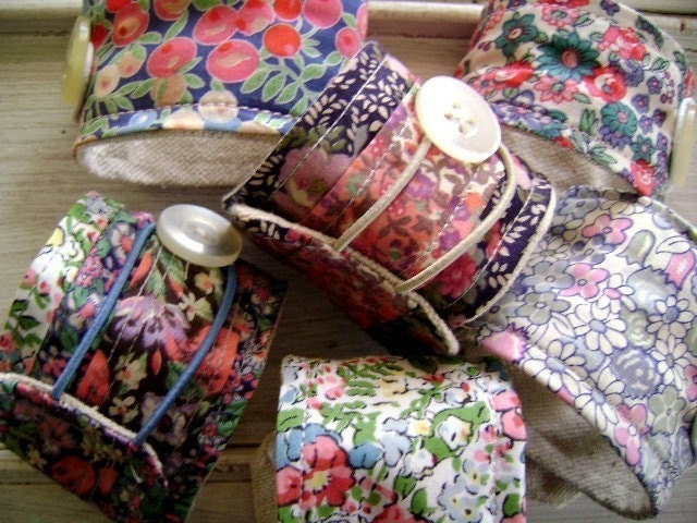 Keep Calm and Carry on...Vintage Liberty of London Textile Cuffs