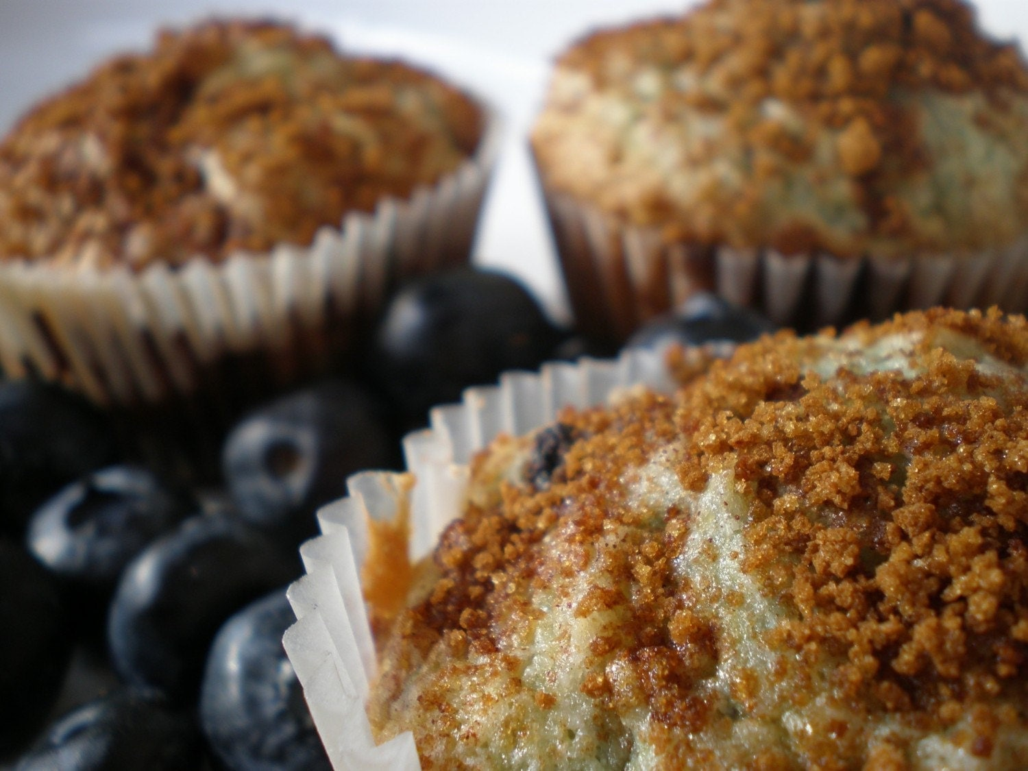 One-Dozen Blueberry Coffee Cake Muffins (Gluten-Free)