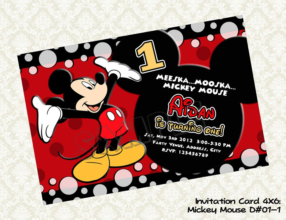 Mickey Birthday Invitations for your inspiration to make invitation template look beautiful