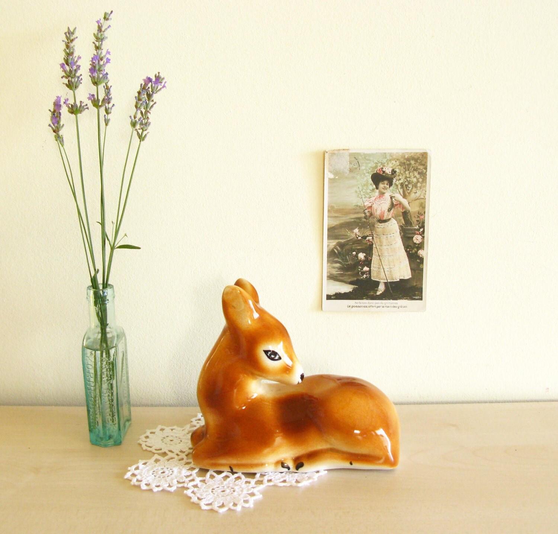 Vintage Doe Deer Porcelain Figurine on Etsy
