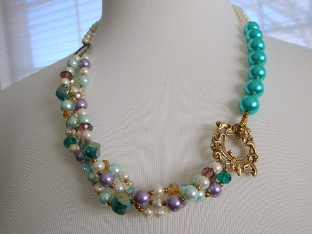 Look at Me Necklace in Teal