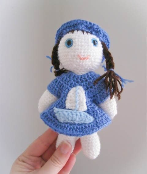 Amy One of a Kind Handmade Amigurumi Doll by SunnyFunnyCreations from etsy.com