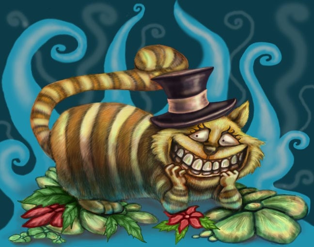 Wonder Cat Cheshire Fantasy Art Print