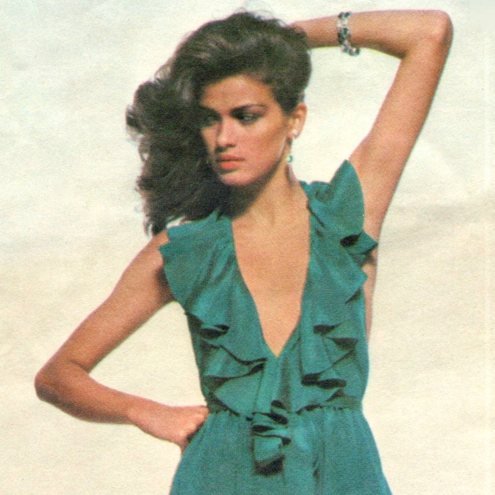 Gia Carangi on Vogue 2010 1970s disco pattern