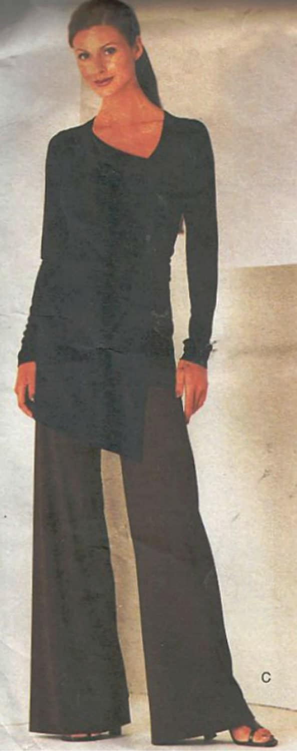 Vogue Top and Pants Pattern 2064 sizes 12, 14, 16 UNCUT Donna Karan - SewReallyCute