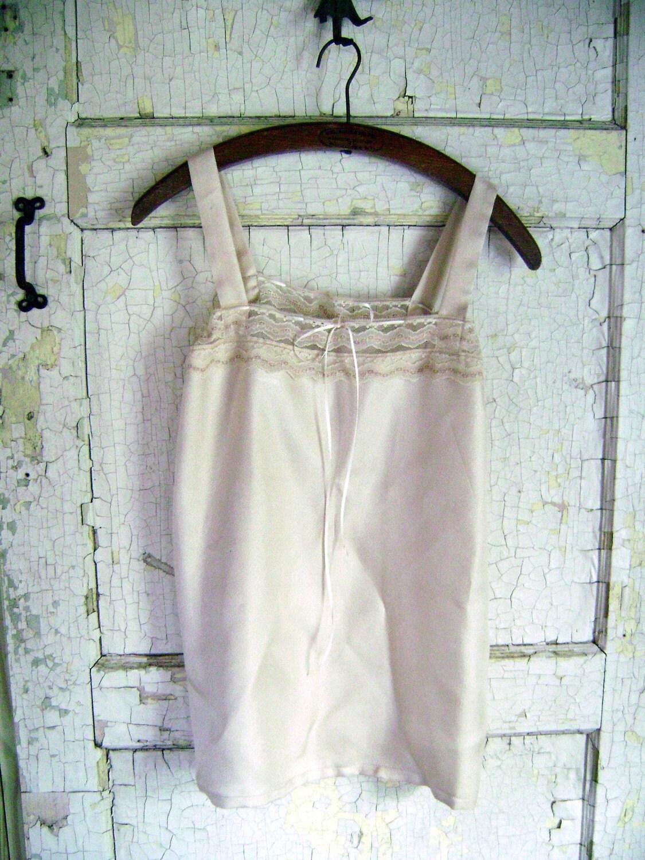 Storyville deshabille...vintage inspired taffeta lace chemise from down de bayou..s.m.l.plus