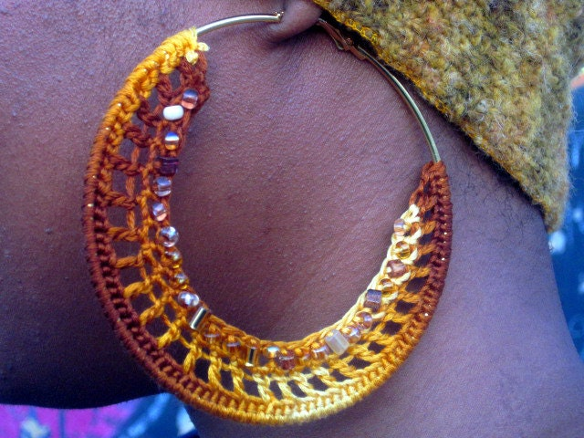 Like its Golden Beaded Crochet Earrings