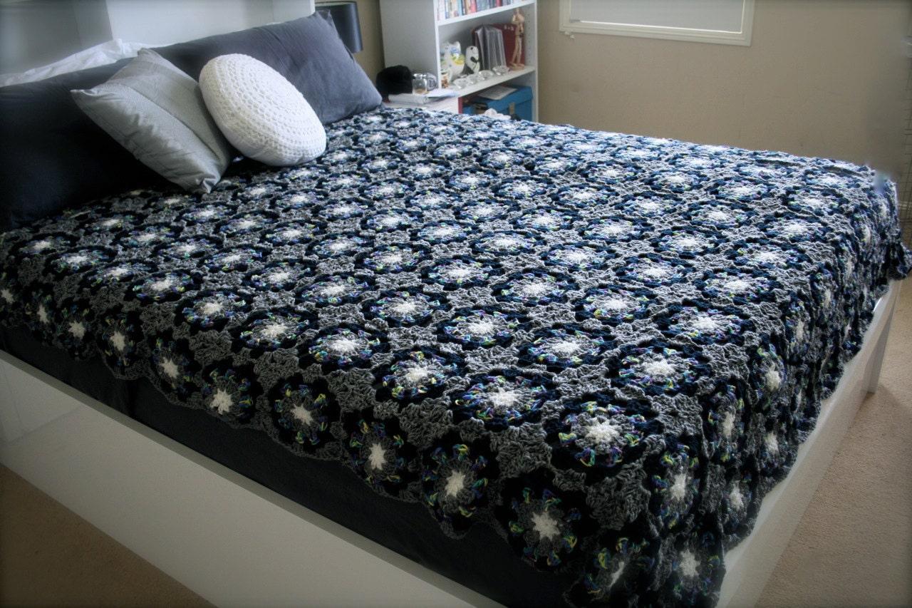 Crochet Queen Size Bed Blanket