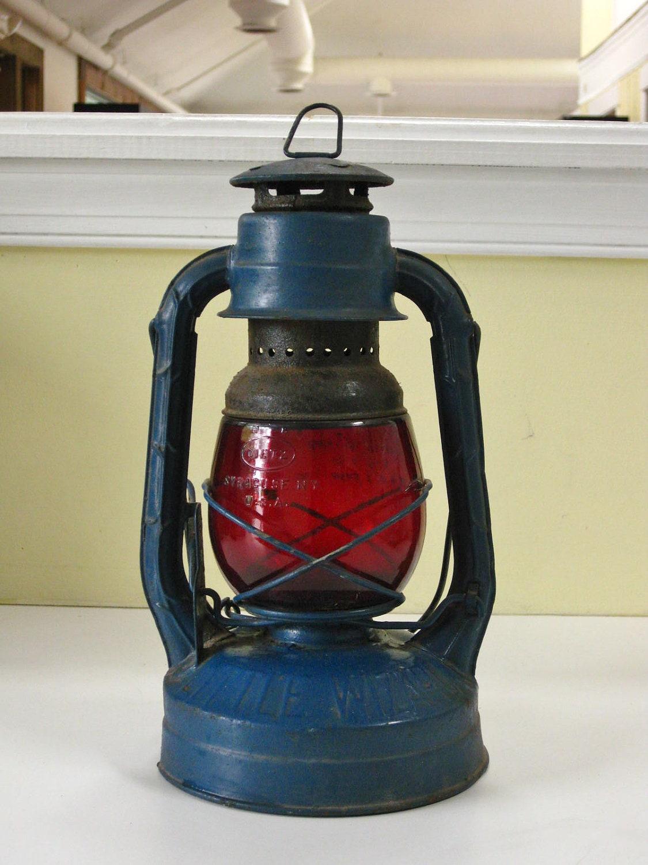 Vintage dietz railroad lantern little wizard by maggiemaevintage