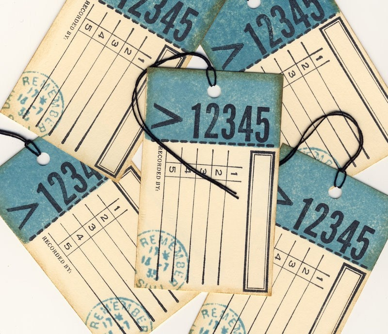 Journaling Hand Stamped Tags (5)