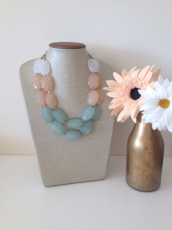 "The ""Shabby Chic"" Collection Shabby Ombré Necklace"