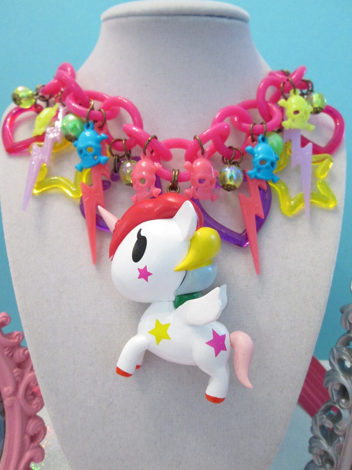 Kawaii Unicorn Charm Necklace