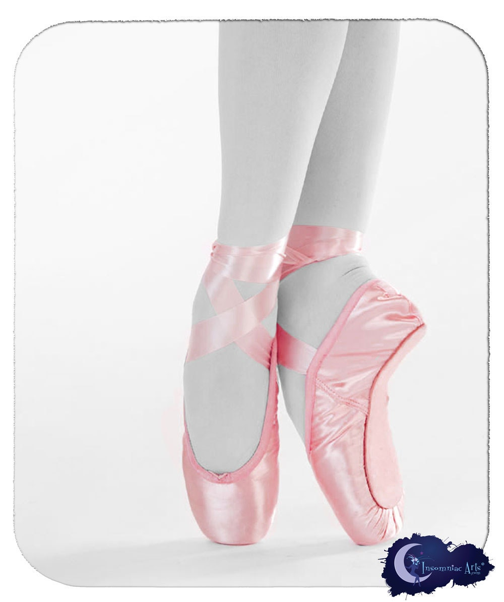 Items similar to Pink Ballet Pointe Shoes Mouse Pad on Etsy