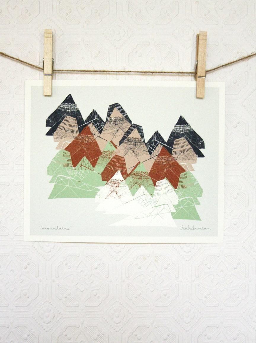 Mountains Print 8 x 10 - leahduncan