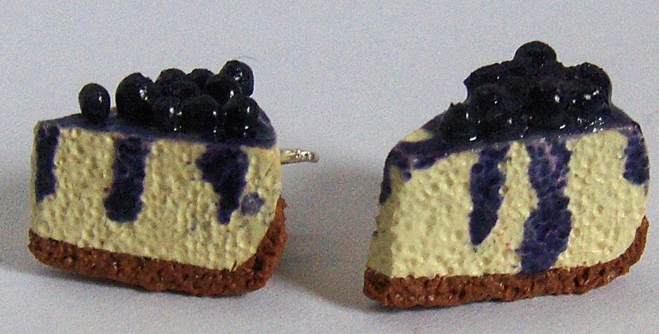 Items Similar To Blueberry Cheesecake Polymer Clay Dessert