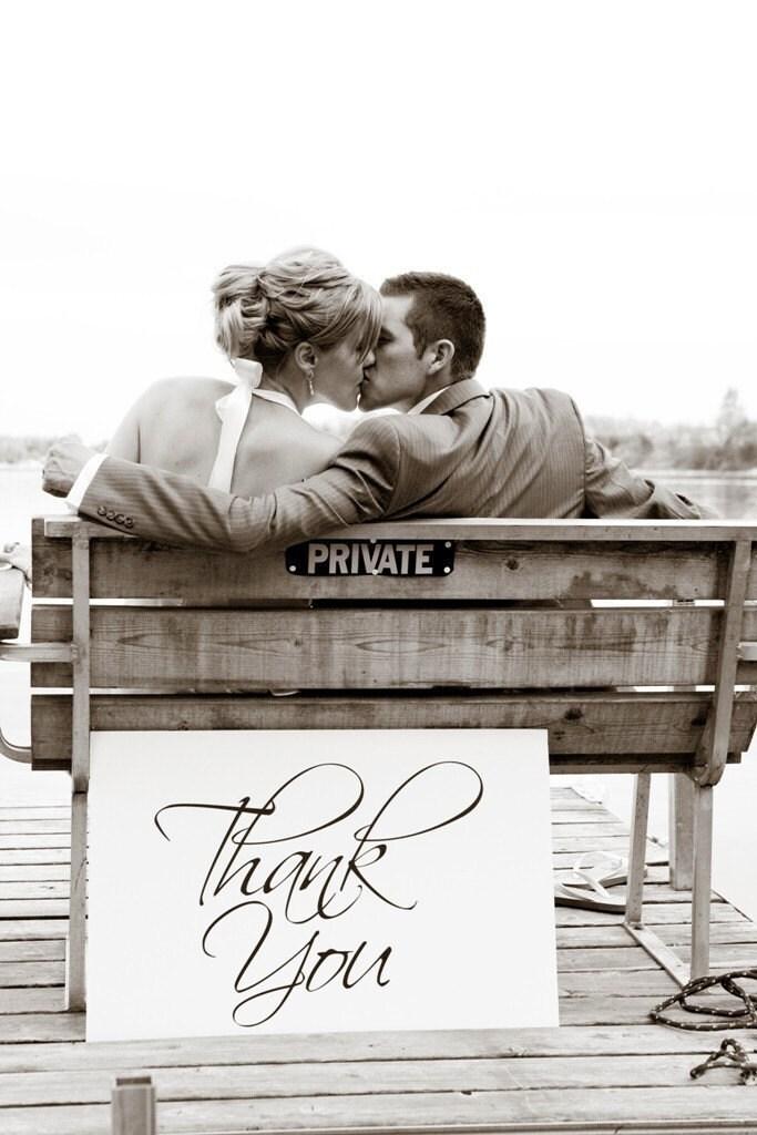 Thank You vinyl wedding decal Wedding Decorations wedding thank you wedding sign