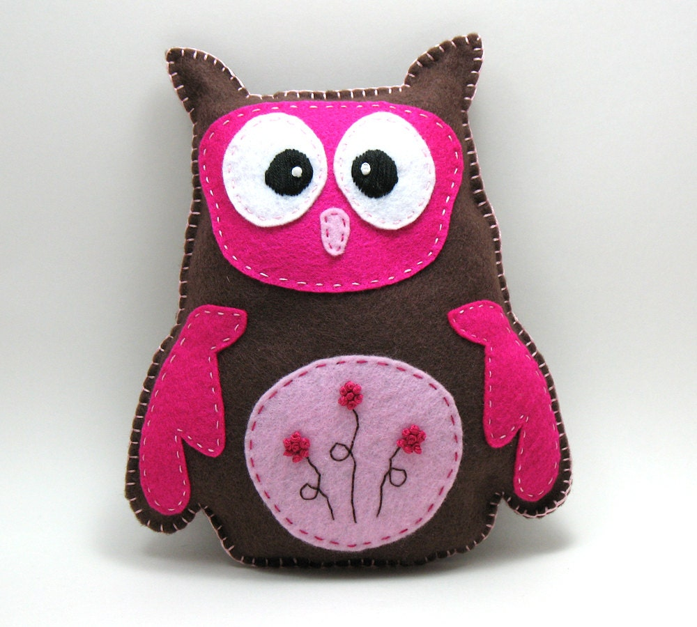 Stuffed Owl PATTERN // Owlivia // Sew by Hand by ...