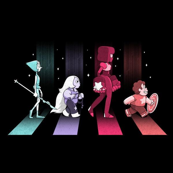 Steven universe crystal gems as kids