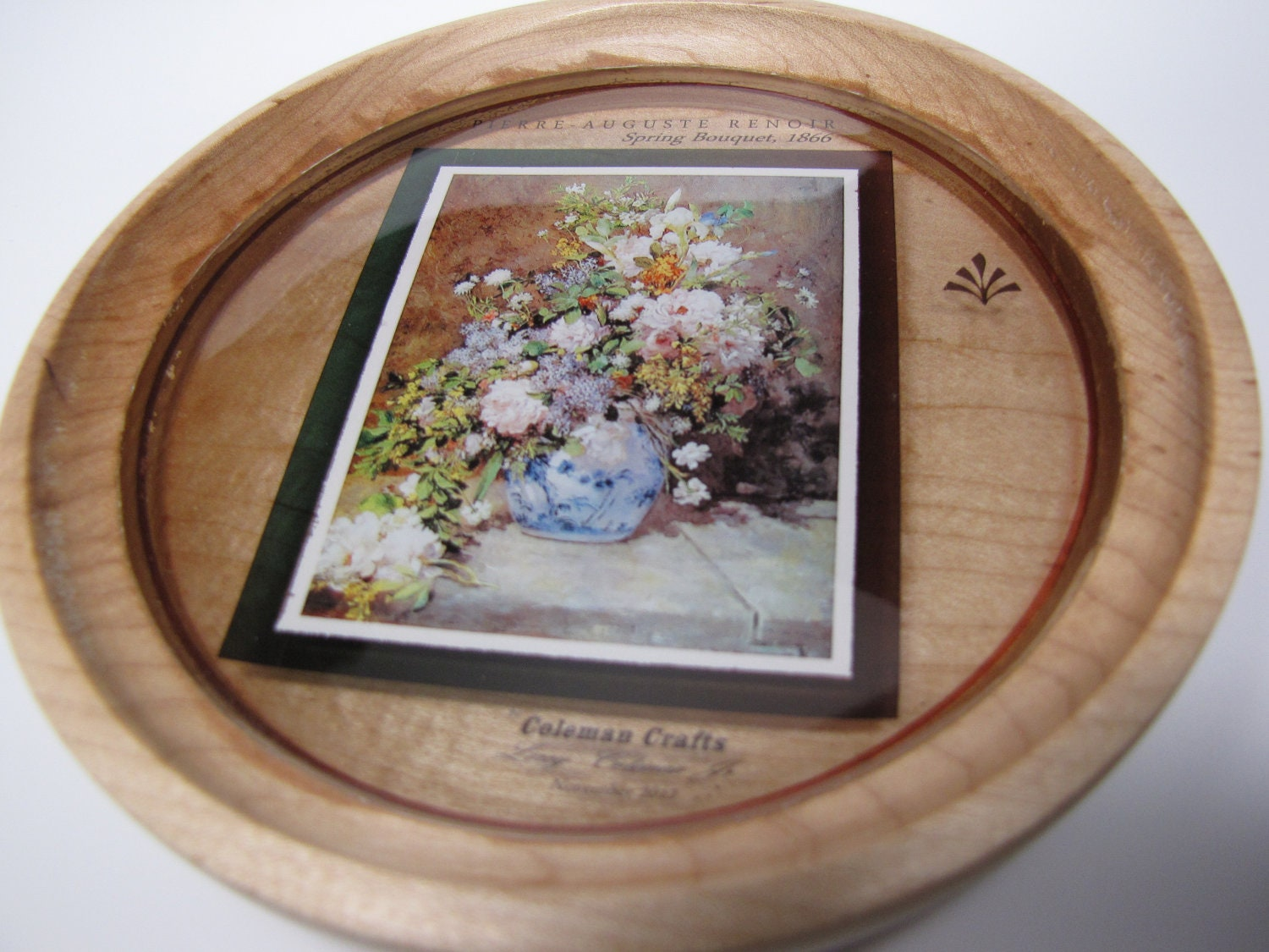 Hard Maple Wooden Bowl with Digital Image of Painting