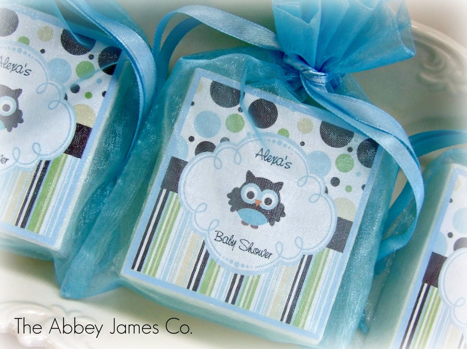 baby boy shower favors owl favors party favors soap favors set of