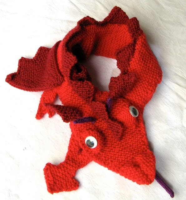 Dragon Scarf KNITTING PATTERN downloadable file by ...