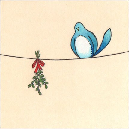 Underneath the mistletoe Greeting Card