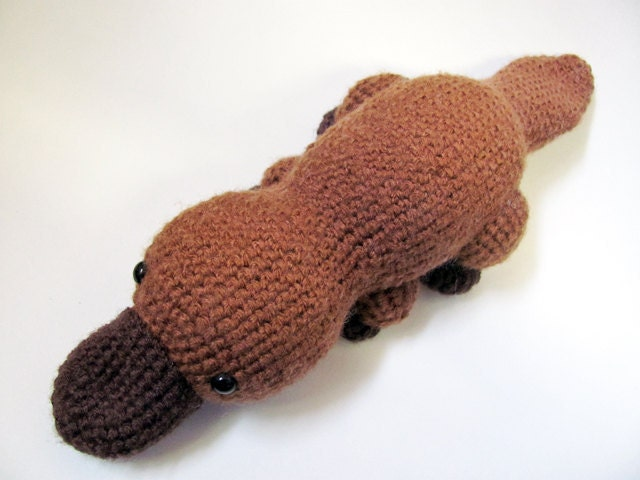 Crochet PATTERN Amigurumi Platypus by MevvSan on Etsy