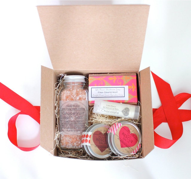 Gift set for her chocolate lip balm gift by for Massage gifts for her