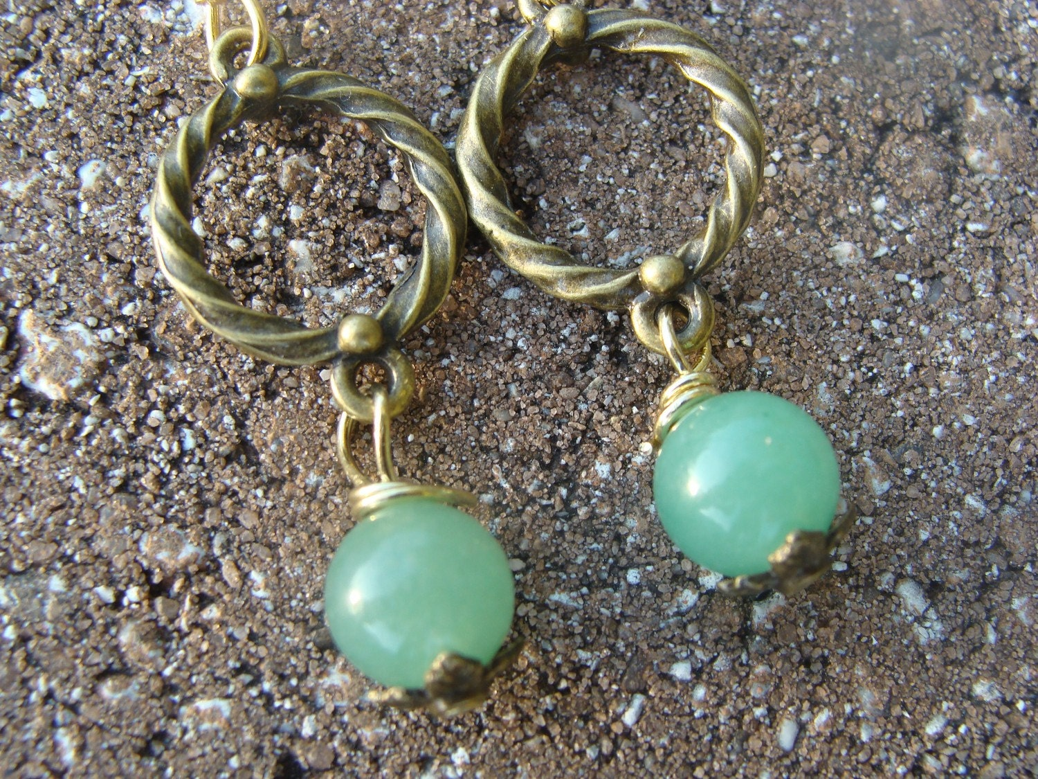 Antique Bronze Chic Earrings