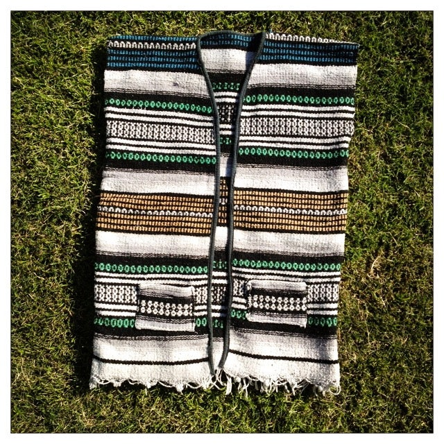 CLASSIC Vintage Mexican SADDLE BLANKET Vest By
