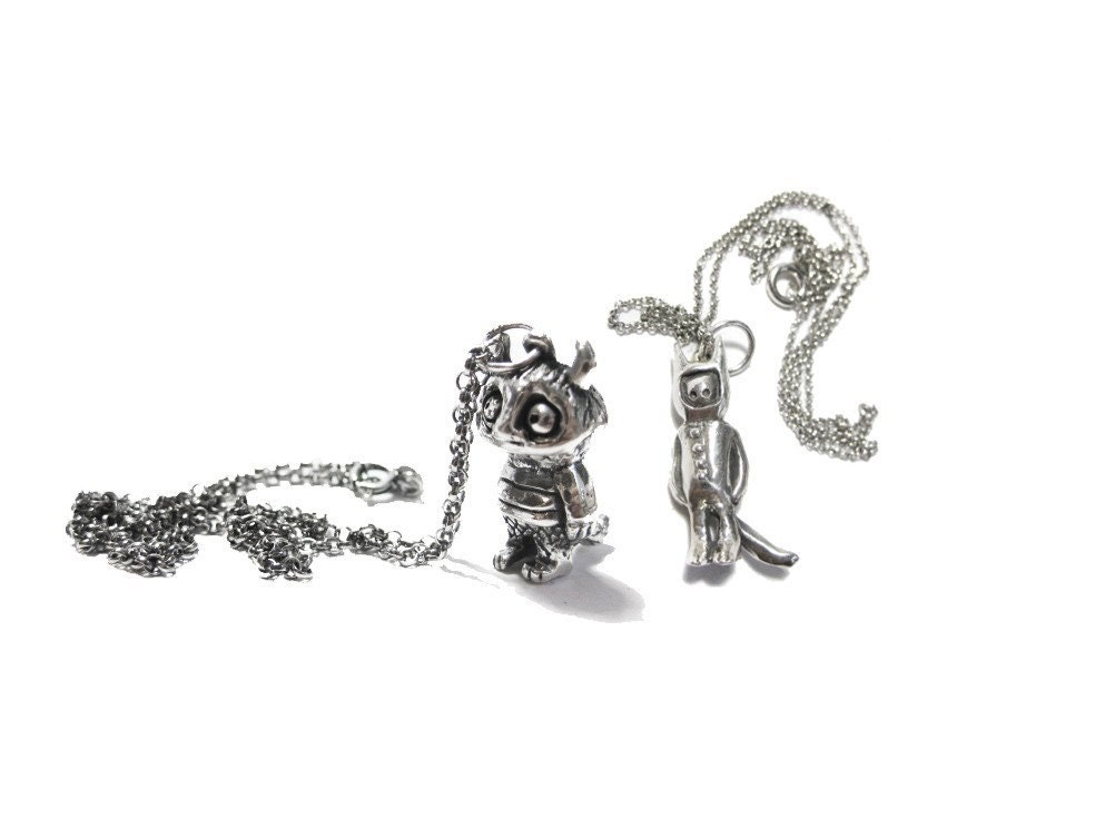 where the wild things are CAROL and MAX silver pendants WTWTA